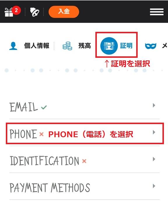 casinox sms verification2