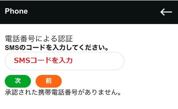 casinox sms verification3